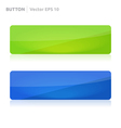 Button template web green and blue vector