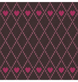Style seamless pink brown color knitted pattern vector