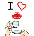 I love coffee vector