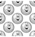 Seamless background pattern of cartoon golf balls vector