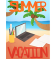 Vacation background card design vector