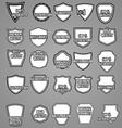 Set of premium vintage labels or badges vector