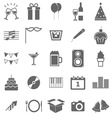 New year icons on white background vector