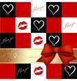 Romantic greeting card vector