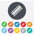 Comb hair sign icon barber symbol vector