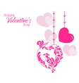 Valentine designer hearts background vector