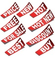 Retail labels vector
