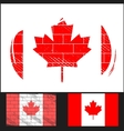 Scratched flag of canada vector