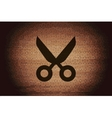 Scissors flat modern web button and space for your vector