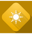 Icon of sun with a long shadow vector