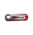 Comments button red icon vector