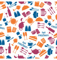 Restaurant and pub color seamless pattern eps10 vector
