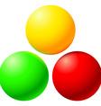Set of bright colored balls vector
