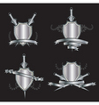 Heraldry shields vector