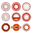 Set of badges labels and stickers in red vector