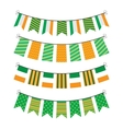 Bunting of flags vector
