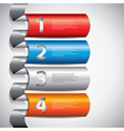 Infographics rounded columns vector