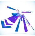 Abstract blue shining lines background vector