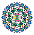 Polish traditional folk art pattern in circle w vector