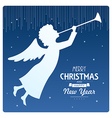 Angel card square 5a vector