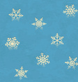 Vintage seamless pattern with snowflakes vector