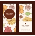 Warm fall lineart flowers vertical round vector