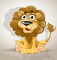 Cute cartoon character lion vector