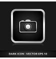 Camera photo icon silver metal vector