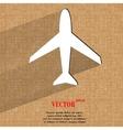 Plane  flat modern web design on a flat geometric vector