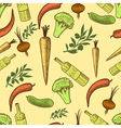 Vegetables in retro style seamless pattern vector