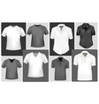 Polo shirts and t-shirts vector