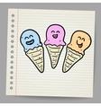 Ice cream cone doodle vector