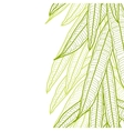 Seamless natural pattern with long leaves vector