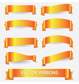 Yellow and orange ribbon banners eps10 vector
