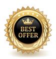 Best offer badge vector