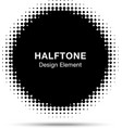 Black abstract halftone design element vector