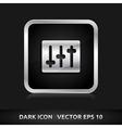 Volume settings icon silver metal vector