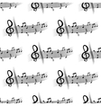 Seamless musical composition with music notes vector