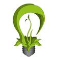 Green eco energy concept green bulb vector