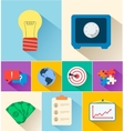 Business flat icons for infographic design vector