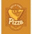 Pizza retro vector