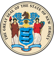 New jersey seal vector
