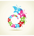 Colorful butterfly icon vector