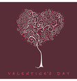 Stylized tree valentines day card vector