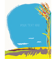 Corn field at autumn graphic background vector