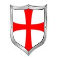 Knights templar shield vector