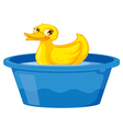 Duck in a tub vector