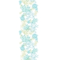 Scattered blue green branches vertical seamless vector