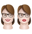 Female faces with glasses vector
