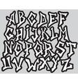 Graffiti font alphabet different letters vector